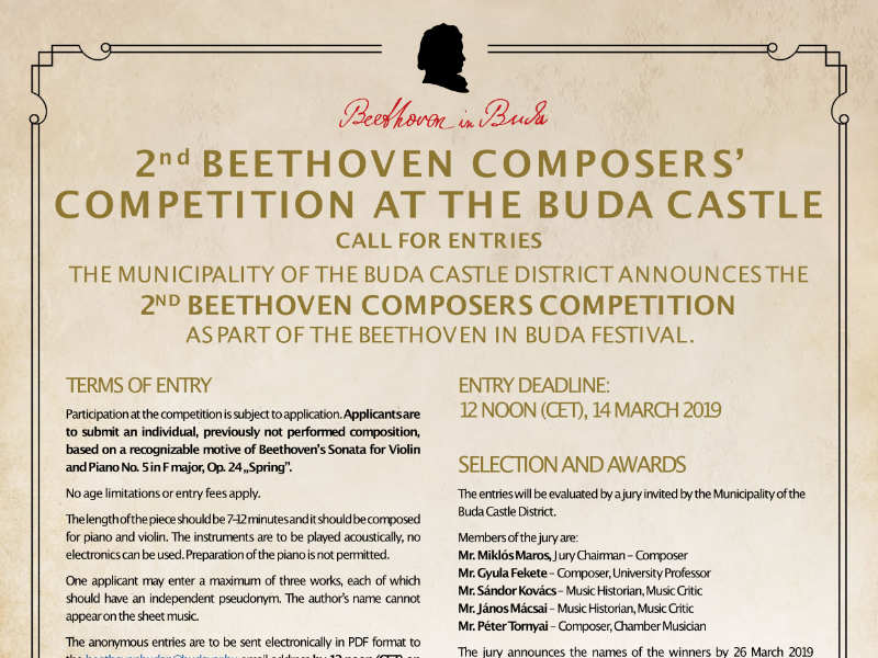 2nd Beethoven Composers' Competition at the Buda Castle