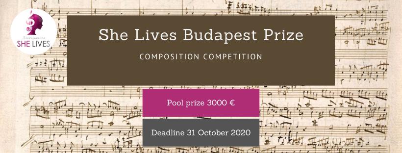 She Lives Budapest Prize