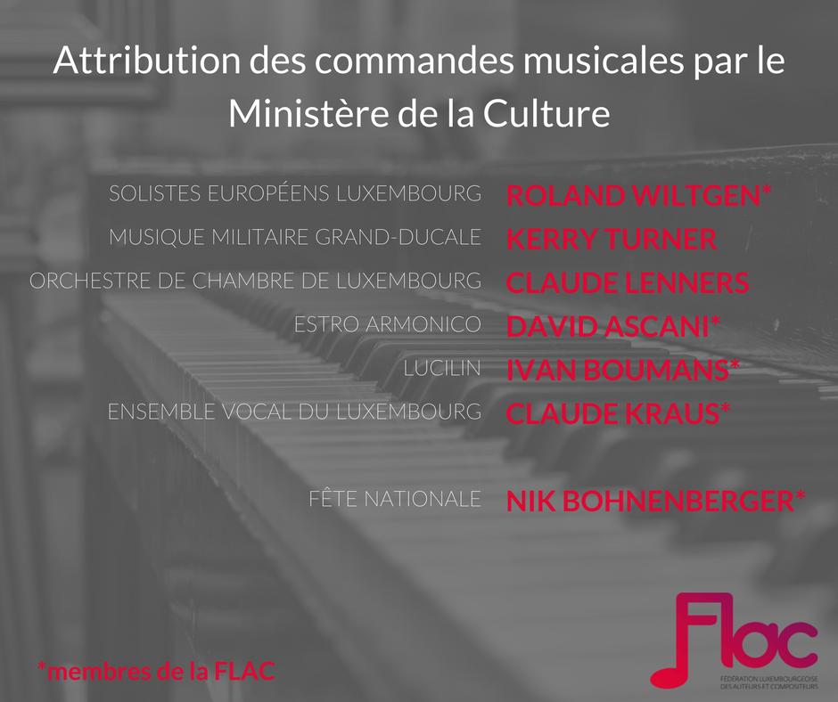 Attribution des commandes musicales par le ministère de la Culture