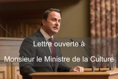 Lettre ouverte à Monsieur le Ministre de la Culture