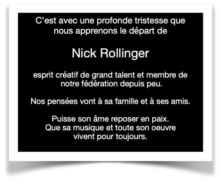 Nécrologie Nick Rollinger