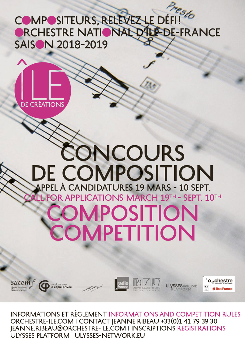 Composition competition organised by Orchestre national d'Île-de-France