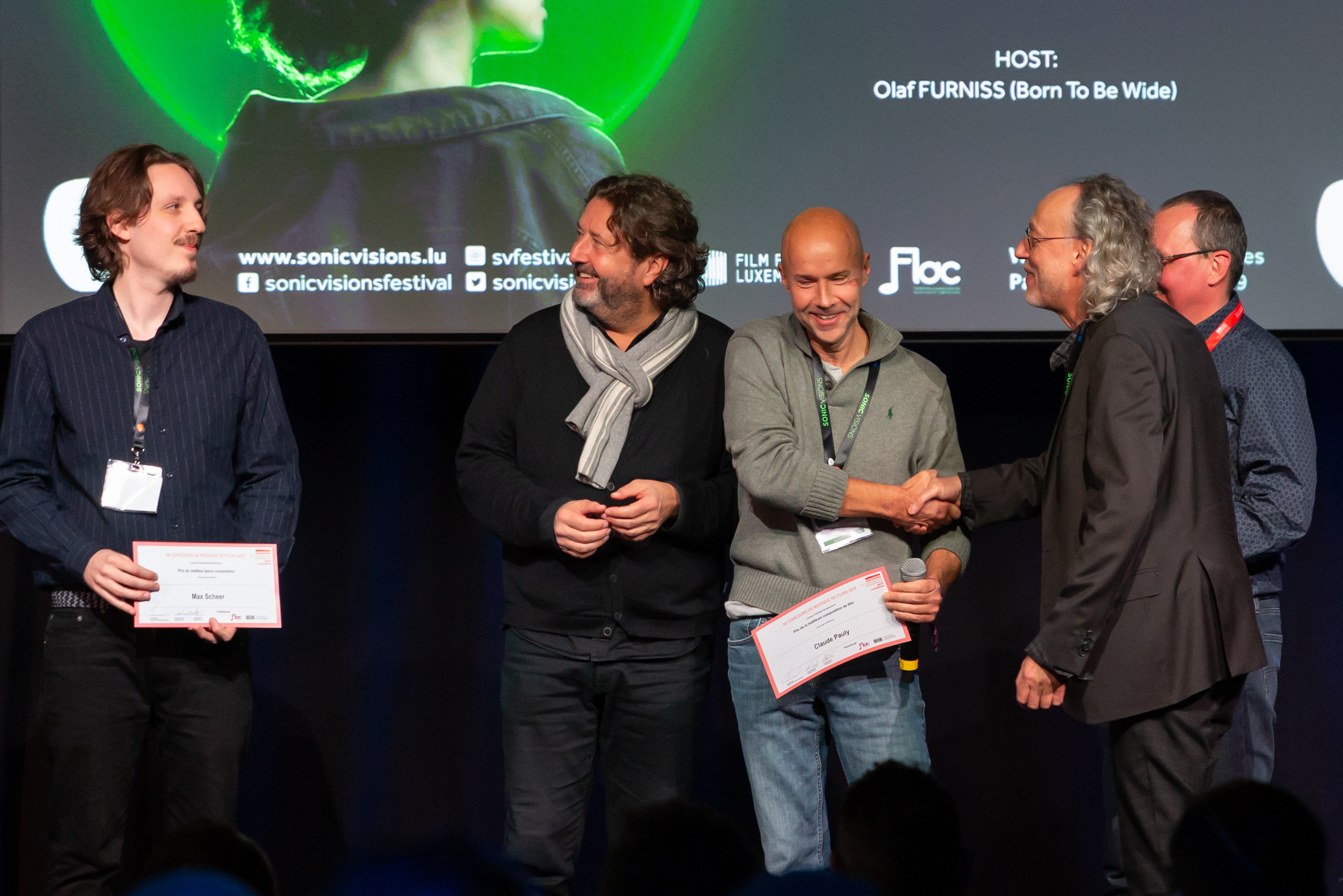 PALMARES 2019 (d.g.à.dr.: Max Scheer, Guy Daleiden, Claude Pauly, Roby Steinmetzer, André Dziezuk)